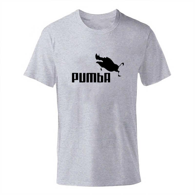 2019 Nieuwe ENZGZL T Shirts Heren Korte mouw T-shirt Mannelijke Jongens Tops Tees Casual t-shirt Ronde hals Katoen grijs pumba zwart navy