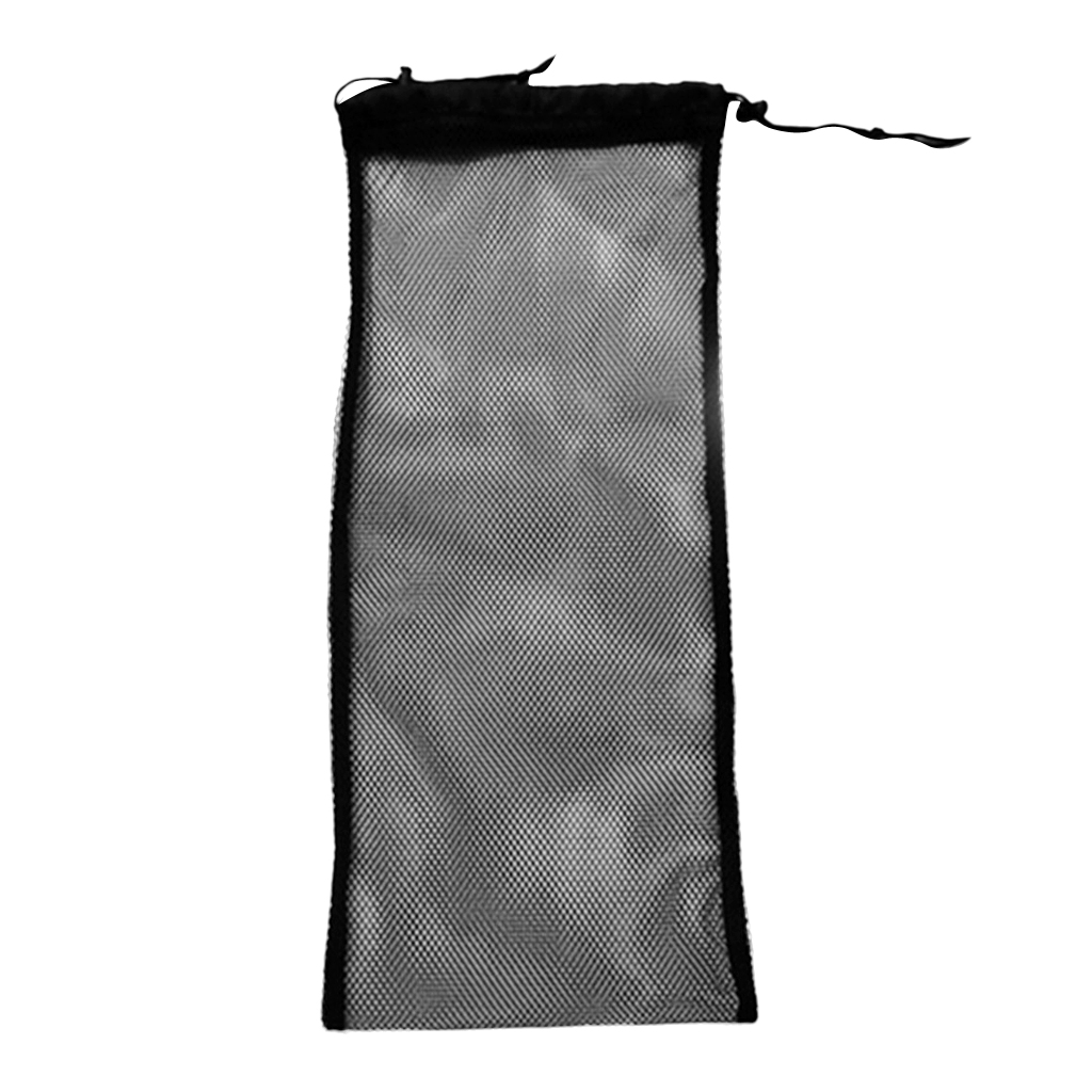 Drawstring Mesh Gear Bag For Scuba Diving Swimming Fin Flippers Tube Storage