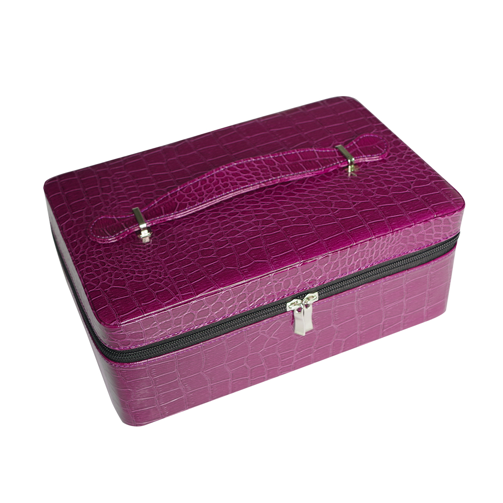 Fashion 40 Slots Essential Oil Carrying Case Zipper Closure Storage Bags Portable Holder Case Box For 15ml Bottles