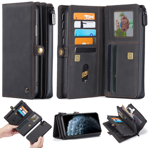 Image 4 - New PU Leather Flip Wallet Cover for iPhone 12 mini 11 Pro Max Xs Max XR X 8 7 Plus SE Multi functional Magnetic Phone Case