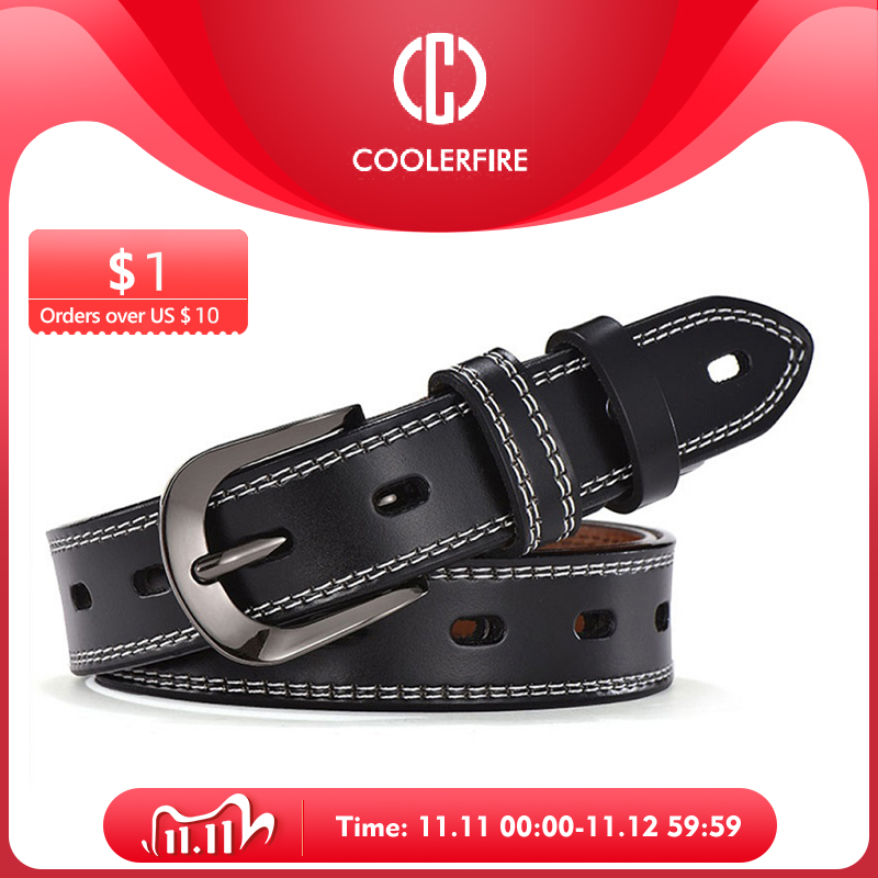 Women Genuine Leather Belt For Female Strap Casual All match Ladies Adjustable Belts Designer High Quality Brand|Women