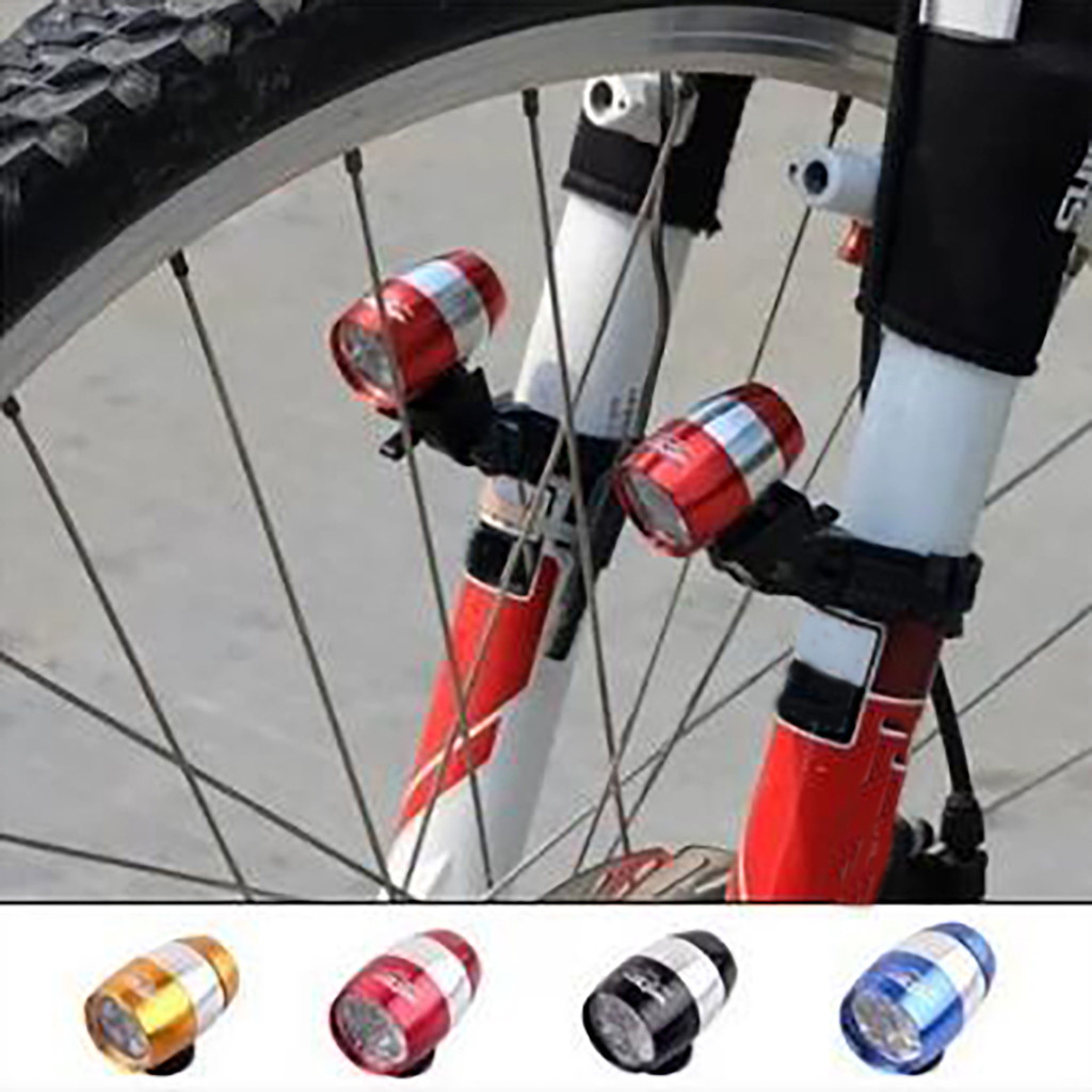 6 Super Bright LED Mountain Bike Front Fork Aluminum Alloy Bicycle Front Tail Beer Light Three Modes