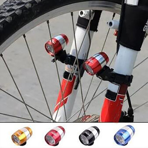 6 super bright LED Mountain Bike Front Fork Aluminum Alloy Bicycle Front Tail Beer Light three modes(China)