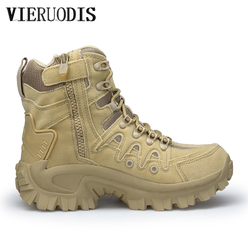Men's Professional Tactical Hiking Boots Waterproof Breathable Shoes Combat Military Boots Camping Mountain Sports Shoes