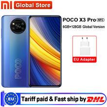 Versão global poco x3 pro 6gb 128gb smartphone snapdragon 860 33w nfc quad ai câmera 120hz dotdisplay 5160mah