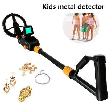 Detector de metales para niños con pantalla LCD retroiluminada grande, MD-1008A, buscador...
