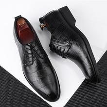 38 48 mens formal shoes business Stylish comfortable Gentlemans formal shoes men #8817