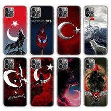 Coque de téléphone Apple avec drapeau turc et loup, étui pour Iphone 11 12 Pro MIni 7G 8G 6S 6G X Xr Xs Max Plus + 5G 5s SE