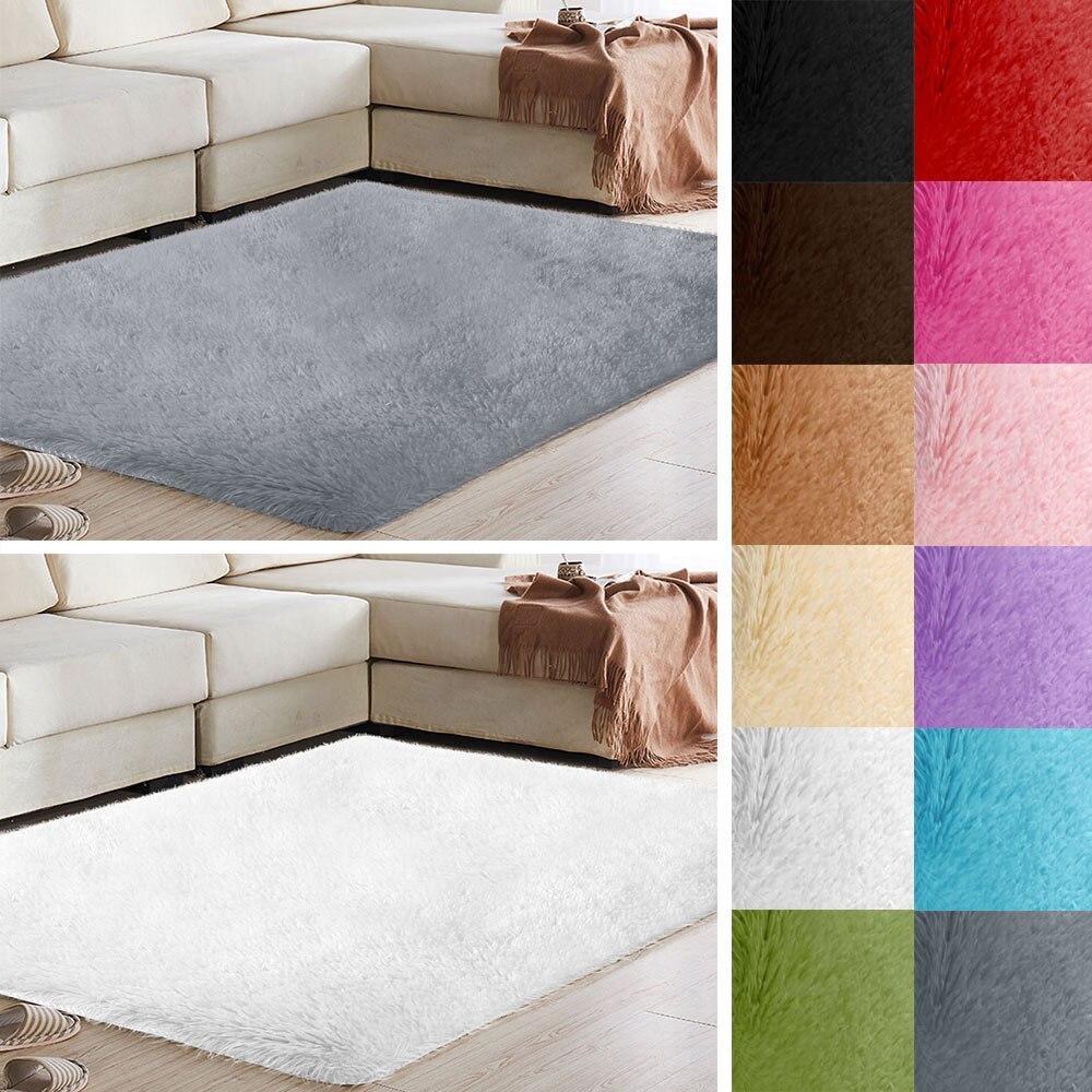 Tapis tapis moelleux tapis sol chambre maison salon multicolore Polyester Fiber Shaggy chaud décoration tapis canapé