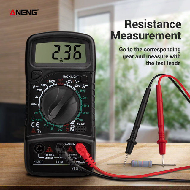 ANENG XL830L Digital Multimeter Esr Meter Testers Automotive Electrical Dmm Transistor Peak Tester Meter Capacitance Meter 2