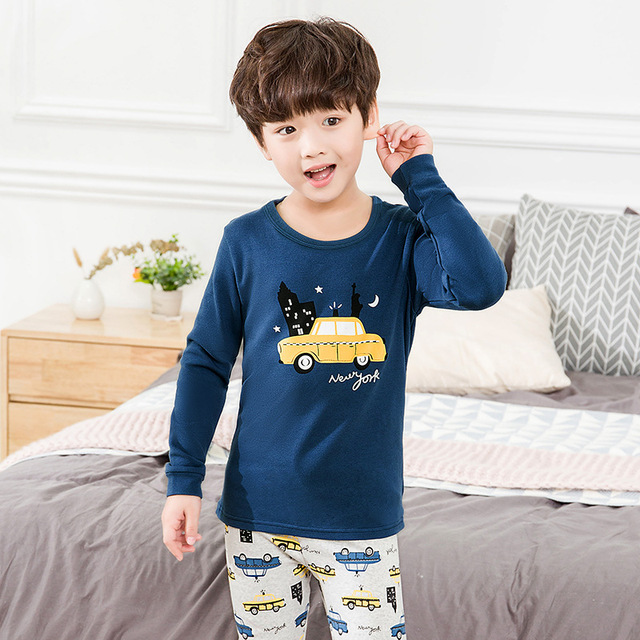 Pijamas de los niños de Otoño de niñas niños 3
