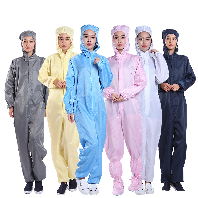 Anti-Static Coveralls Cleanroom Dustproof Suit Anti-static Clothing Clean Clothes Hood Clean food Work Clothing Unisex overalls