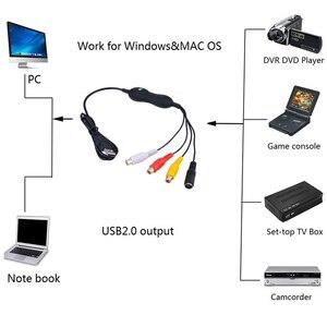 Image 3 - EzCAP 159 USB 2.0 الصوت والفيديو التقاط عصا تسجيل بطاقة CVBS مركب S مسجل فيديو ل V8 Hi8 DVD VHS DVR TV كاميرا الفيديو