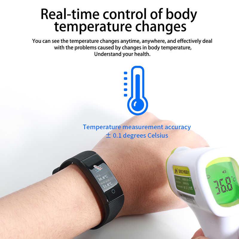 Fitness Armband Smart Band Sensor Testen Temperatuur Sport Smart Horloge Bloeddrukmeting Stappenteller Polsband