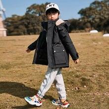 Пальто на утином пуху для мальчиков до 30 градусов теплая детская