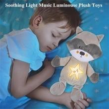 Light Music Soothing Plush Toys Cute Animals Plush Dolls Night Light Luminous Toys Placate Glow Plush Toys Stuffed Animals