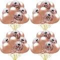 Прозрачный латексный шар с блестками, 15 шт., 12 дюймов, розовое золото, 18, 30, 40, 50, украшение на день рождения, набор воздушных шаров