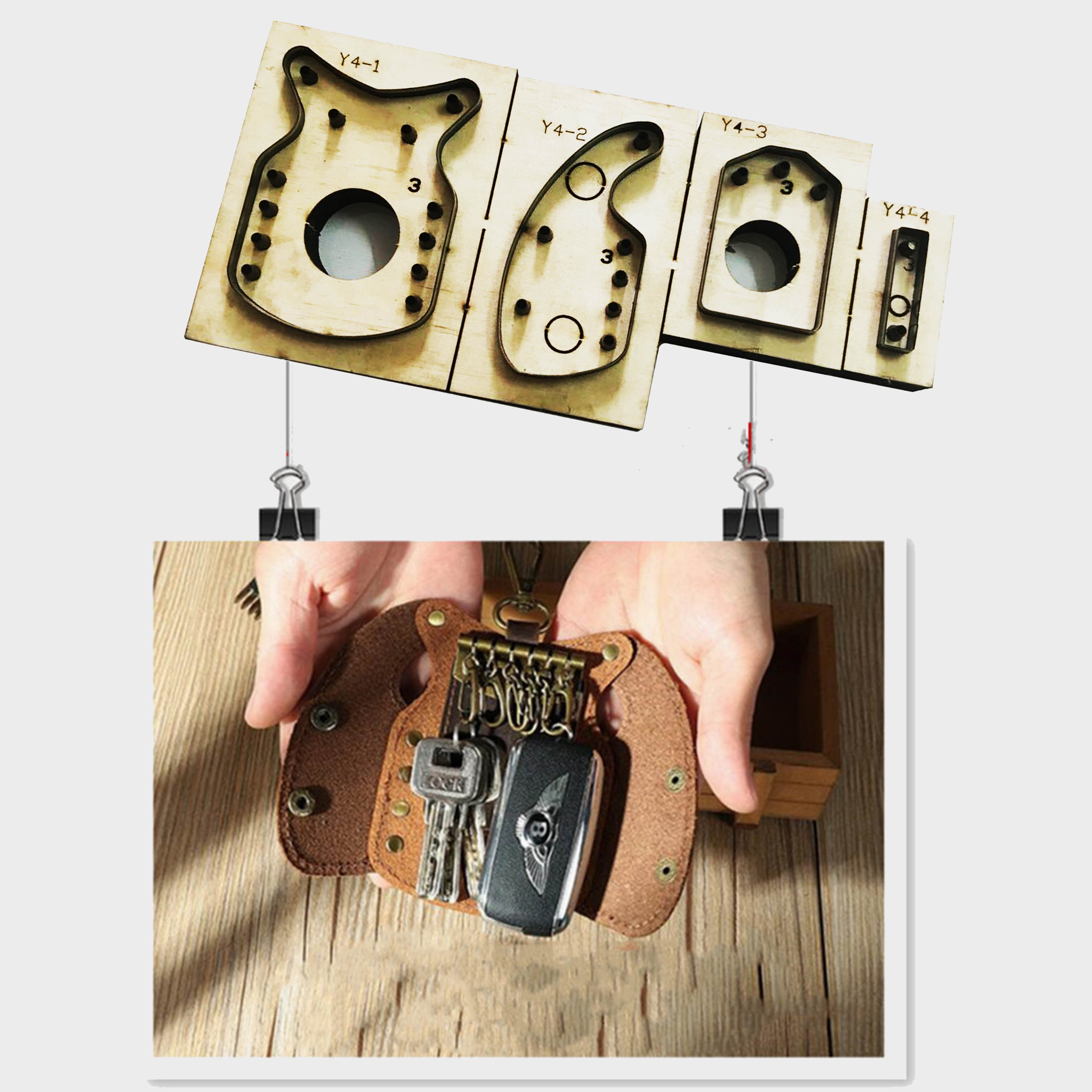 Key Ring Leather Cutting Die Die Cut Wooden Template Steel Punch Mold Crafts