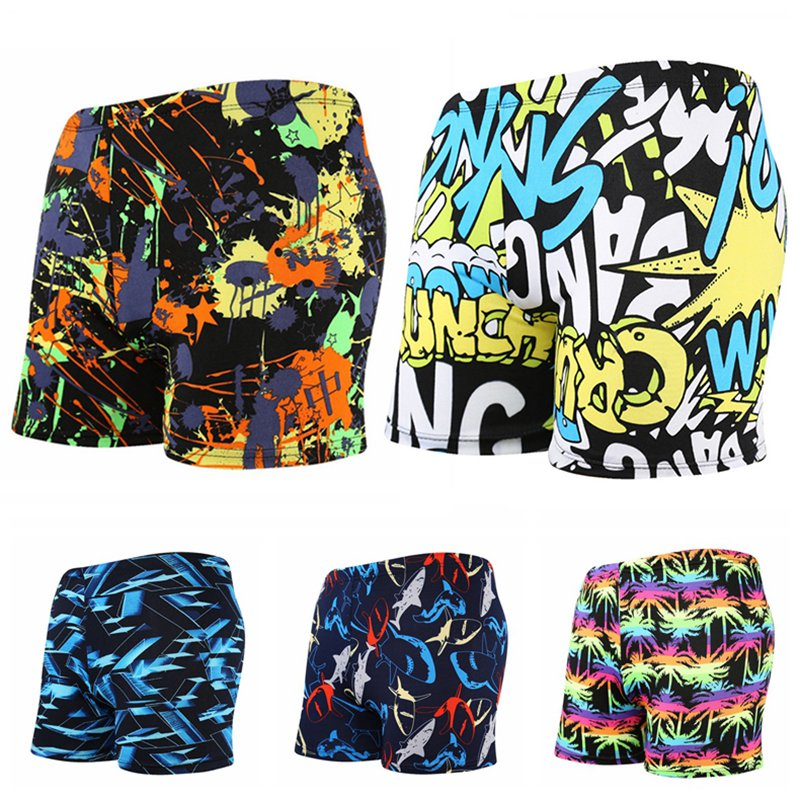 New 2019 Men\'s Printed Swimsuit Men\'s Swimming Trunks Sexy Shorts In The Waist Quick-Drying Swim Trunks Zwembroek Heren