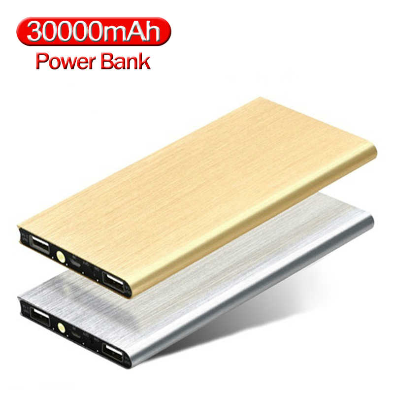 Power Bank 30000mAh Slim USB Powerbank Large Capacity Portable Phone External Battery Charger for smart phone