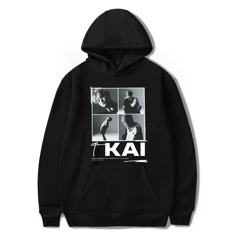 Kpop NEW Team Super M Taemin BAEK HYUN KAI Taeyong MARK LUCAS TEN Hooded Sweatshirt Women/Men Clothes Casual Hoodie Sweatshirt