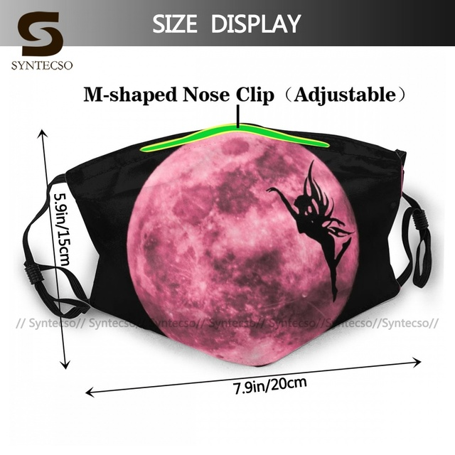 Protective Adults Pink Fairy Moon Face Mouth Mask Fancy Cloth Luxury Bike Facial Mask With Filters 1
