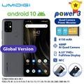 UMIDIGI Power 3 Moblie Phone Android 10 48MP Quad AI Camera 6150mAh 6.53 FHD+ 4GB 64GB Helio P60 Global Version Smartphone NFC