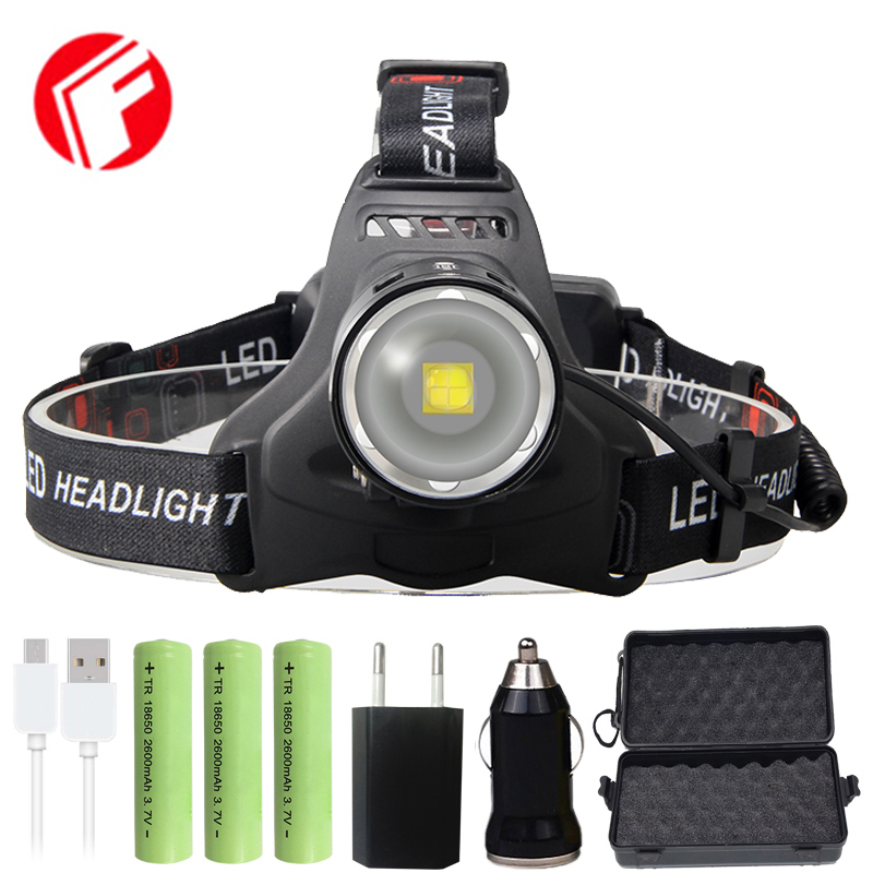 FX-DZ90T35 50000 Lumens Led Headlamp Headlight XHP70.2 Use 18650 Battery Power Bank XHP70 XHP50 Head Lamp