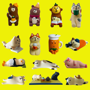 Creative resin crafts ornaments Hand painted animal Decor Cake decorations Mini Home decoration Accessories
