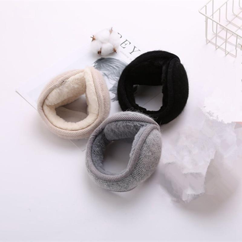 Women Men Winter Riding Warm Unisex Plush Cloth Earmuffs Ladies Comfortable Ear Warmer Muffs Cover Earwarmers Earlap QLY1060