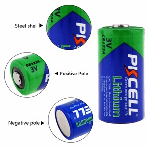 Image 4 - 24Pcs 1Pcs/Card PKCELL CR123A CR17345 1500mAh 3V Li MnO2 Primary CR 123a cr123 Dry Battery For Camera Medical Equipment Lamp