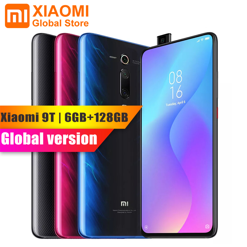 Popular Global Version Xiaomi Mi 9T Mi9 T 6GB 128GB Full Screen 48 Million Super Wide-angle Pop-up Front Camera Smartphone