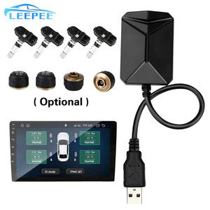 Image 1 - Android Navigation Alarm System With 4 Sensors Wireless Transmission TPMS USB Android Car TPMS Tire Pressure Monitoring System