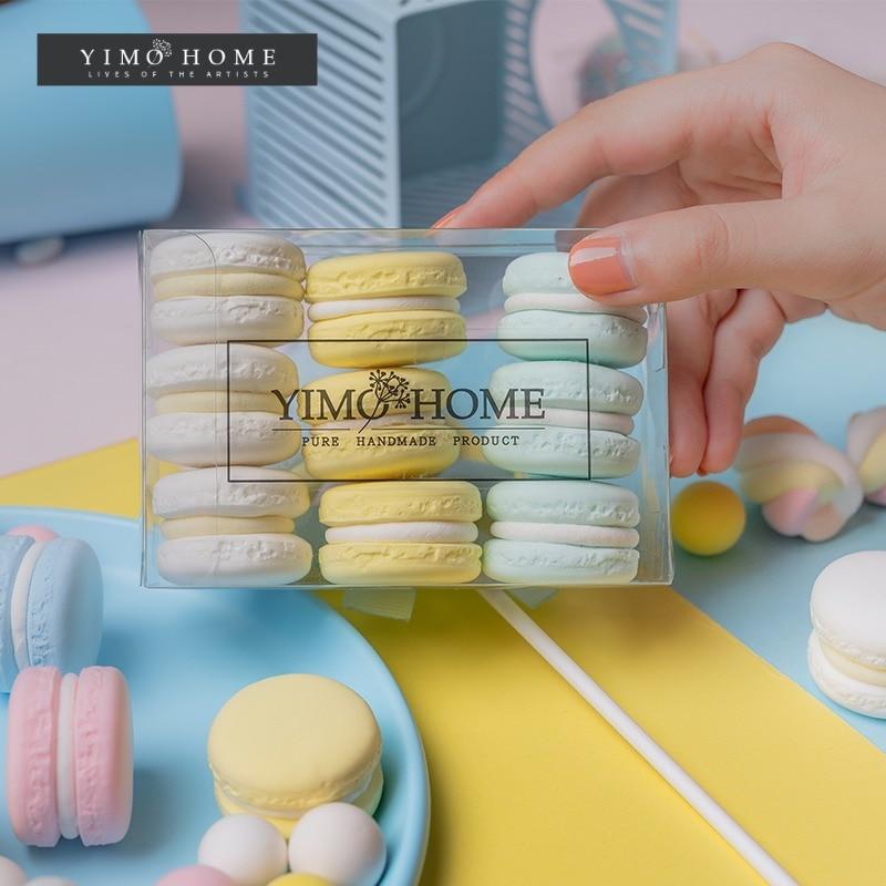 Simulation macaron modell gefälschte kuchen creme snack kinder schießen requisiten hochzeit dessert fenster dekoration ornamente
