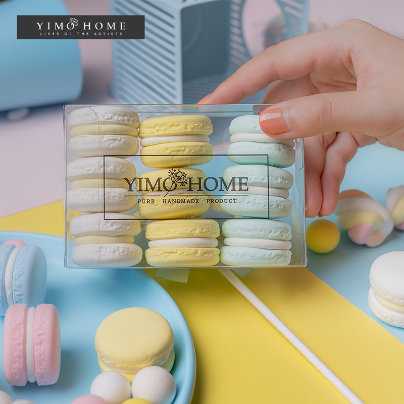 Simulation macaron model fake cake cream snack children shooting props wedding dessert window decoration ornaments
