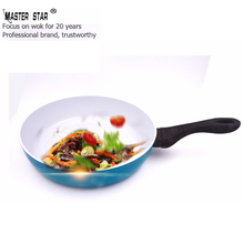 Master Star Ceramic Coating Non-stick Frying Pan Egg 28cm Skillet Kitchen Pots High Quality Grill Pans Induction Cooker