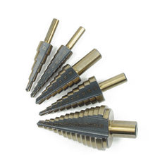 5-35/6-60/6-35/6-65/10-45/Inch 5pcs mm HSS Titanium Coated Step Drill Bit for Metal Wood Drilling Hole Cutter Step Cone Drill(China)