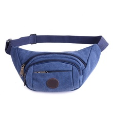 Waist Pack Outdoor Men Chest Bag Flat Travel Sport Sling Shoulder Canvas