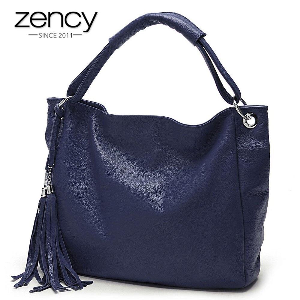 dudu кошелек купить в спб - Zency 100% Soft Genuine Leather Tassel Womens Handbag Black White Ladies Shoulder Bags Messenger Satchel Crossbody Purse