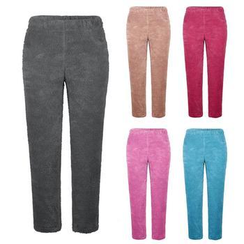 Plus Size Pajama Pants Winter Warm Fleece Pajama Long Pants Women Solid Color Loungewear Nightwear Pajama Pants For Lady Pants фото