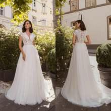 Размера плюс великолепные ТРАПЕЦИЕВИДНОЕ свадебное платье es