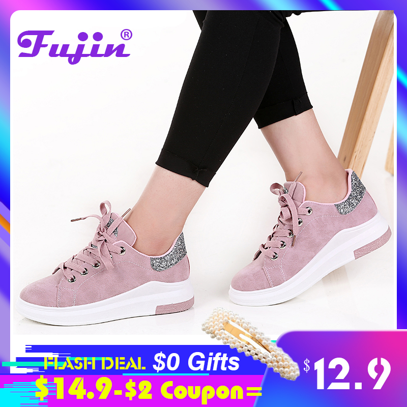 Fujin Brand 2019 Autumn Women Shoes Sneakers  Autumn Soft Comfortable Casual Shoes Fashion Lady Flats Female Shoes For Women