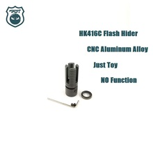 14MM CCW Thread HK416C Flash Hider NO Function Muzzle Device for Gen9 J9 Water Gel Ball Blaster Airsoft AEG