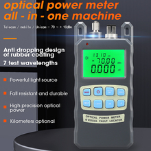 COMPTYCO AUA 80A All IN ONE Optical Power Meter with Visual Fault Locator optical fiber tester 5KM 10km 20KM 30km VFL