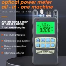 Comptyco AUA 80Aオールインワン光パワーメータと視覚障害ロケータ光ファイバ試験器 5 キロ 10 キロ 20 キロ 30 キロvfl