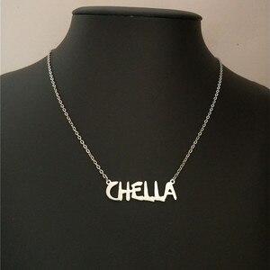 Уникальный шрифт табличка колье пользовательское имя кулон ожерелье, персонализированные украшения для подружек невесты кольца дружбы Подарочные Кольца для Для женщин