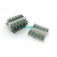 Тип 406 зеленая стоматологическая силиконовая резина полимерная основа скрытый протез Полировка Боры 50 шт