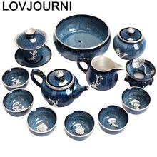 Aksesuarlari China Teaset Organizer Dekoration Garden Kung Fu Vintage Teapot Home Decoration Accessories Teaware Chinese Tea Set