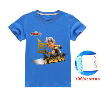 2020 letnia odzież Gormiti gra dzieci z krótkim rękawem chłopcy bawełniane koszulki dziewczyny koszulki dziecięce koszulki topy koszulki dla dzieci kostium tanie i dobre opinie BIQUINI COTTON CN (pochodzenie) Moda Cartoon REGULAR O-neck Pasuje prawda na wymiar weź swój normalny rozmiar Unisex