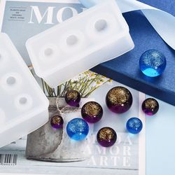 New Crystal Drop Gel Sphere Silicone Mold Star Ball Mold 25 20 15mm multi-size Jewelry Resin Mold Geometry Coaster Bookmark